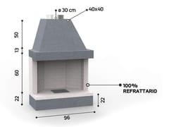 Caminetto a legna aperto in ceramica refrattariaKR 801 | Caminetto - EDILMARK