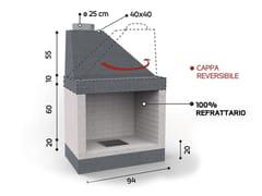 Caminetto a legna aperto in ceramica refrattariaKR2790 | Caminetto - EDILMARK