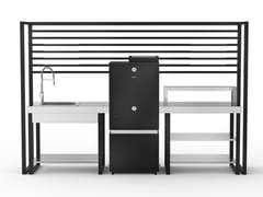 Cucina da esterno modulare con affumicatoreKRAKATOA - DEIMOS