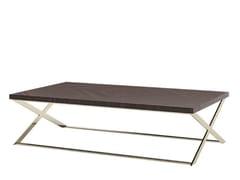 Tavolino basso rettangolare in legno da salotto KROSS | Tavolino -