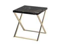 Tavolino di servizio quadrato in marmo KROSS | Tavolino in marmo -