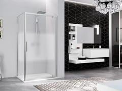 Box doccia angolare con porta a battenteKUADRA 2.0 | G + F - NOVELLINI