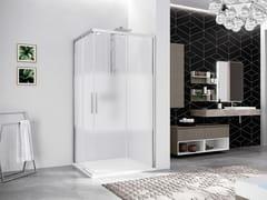 Box doccia angolare con porta scorrevoleKUADRA 2.0 | AH - NOVELLINI