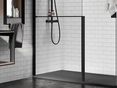 Mensola portaoggetti in alluminio per parete docciaKUADRA H FRAME | Mensola bagno - NOVELLINI