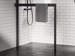 Porta salviette a barra in alluminio per parete docciaKUADRA H FRAME | Porta asciugamani - NOVELLINI