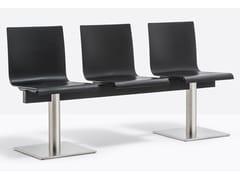 Seduta su barra in legno impiallacciatoKUADRA XL 2603 / 2606 - PEDRALI