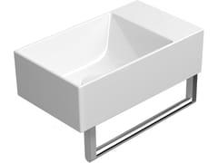 Lavamani da appoggio rettangolare sospeso in ceramicaKUBE X 40X23 | Lavamani - GSI CERAMICA