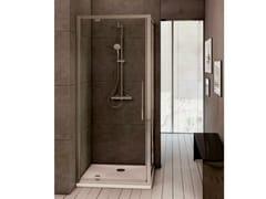 Ideal Standard, KUBO - mod. PV Box doccia angolare in vetro temperato con porta pivotante