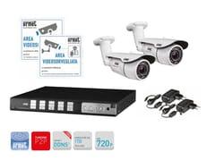 Sistema di sorveglianza e controlloKit TVCC con DVR AHD 720p 4 canali - URMET