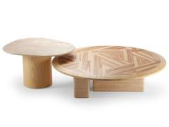 Set di tavolini in frassino e travertinoL'ANAMOUR - DOOQ