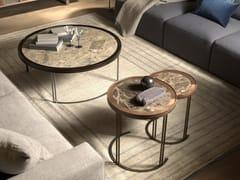 Tavolino da caffè rotondo in marmoLEONARDO L1040N | Tavolino in marmo - ARTE BROTTO MOBILI