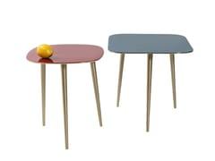 Tavolino di servizio rettangolare in alluminio LA COSTA SQUARE -