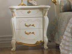 Comodino in legno con cassettiLA FENICE | Comodino - LINEA & CASA +39
