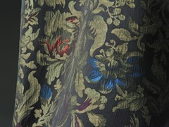 Tessuto in lino con motivi florealiLA GHIRLANDATA - AGENA