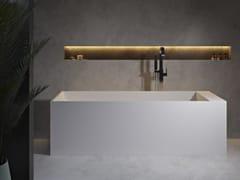 Vasca da bagno centro stanza rettangolare in Solid SurfaceLA TURBIE   Vasca da bagno - RILUXA