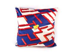 Cuscino quadrato in tessuto LABIRINTH | Cuscino - Seletti wears Toiletpaper