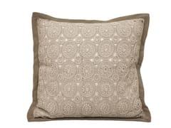 Cuscino quadrato in pelle a motivi geometrici LACE - Loveluxe