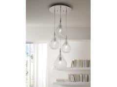 Lampada a sospensione a luce diretta in vetro soffiatoLACRIMA | Lampada a sospensione - CANGINI & TUCCI