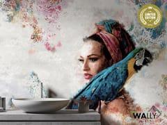 Carta da parati lavabile in tessuto non tessutoLADY ARA - WALLYART