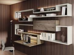 Libreria componibile in legno con scrittoioLAGOLINEA | Libreria con scrittoio - LAGO