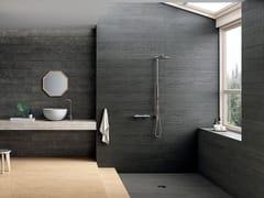 Pavimento/rivestimento in gres porcellanato effetto legnoLAGOM COATED BLACK - CERAMICHE MARCA CORONA