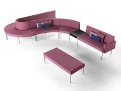 Sistema modulare di sedute in tessutoLAGUNA | Panca modulare - SITIA