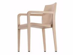 Sedia in legno con braccioli LALEGGERA ARMREST - 304 - Laleggera