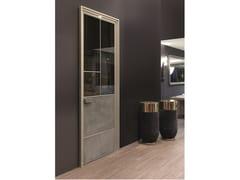 Porta a battente in pelle e vetro LAND | Porta - Aluminium Chic