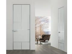Porta a battente laccata in vetro temperato LAND | Porta laccata - Aluminium Chic