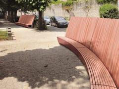 mmcité1, LANDSCAPE Panchina in legno con schienale