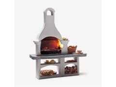 Barbecue a carbonella a legna in cementoLANZAROTE - PALAZZETTI LELIO