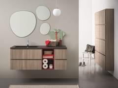 Mobile lavabo sospeso con cassettiLAPIS COMP. 4 - BIREX