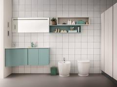 Mobile lavabo angolare laccato sospeso LAPIS COMP. 7 - Lapis