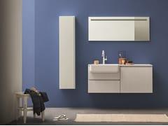Mobile lavabo laccato sospeso con cassetti LAPIS COMP. 8 - Lapis