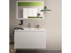 Mobile lavabo laccato con specchio LAPIS COMP. 5 - Lapis