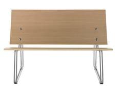 Panca modulare in acciaio e legno con schienaleLASAI - SELLEX