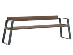 Väliala, LATTLAUD LIGHT Panchina in acciaio e legno con braccioli