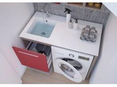 Mobile lavanderia con ante a battente con lavatoioLAVANDERIA 2 - LEGNOBAGNO
