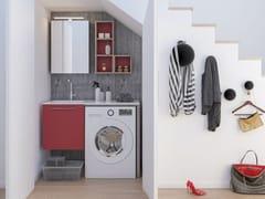LEGNOBAGNO, LAVANDERIA 2 Mobile lavanderia con ante a battente con lavatoio