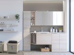 LEGNOBAGNO, LAVANDERIA 3 Mobile lavanderia con ante a battente con lavatoio