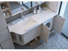 Mobile lavanderia con ante a battente con lavatoioLAVANDERIA 3 - LEGNOBAGNO