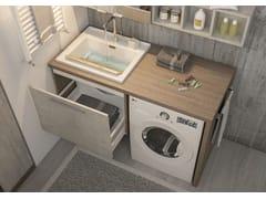 Mobile lavanderia sospeso con lavatoioLAVANDERIA 5 - LEGNOBAGNO
