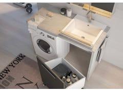 Mobile lavanderia componibile in legnoLAVANDERIA 7 - LEGNOBAGNO