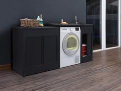 Mobile lavanderia in ABS per esterni con ripiano a penisolaLAVACRIL   Mobile lavanderia per lavatrice - COLAVENE