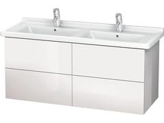 Mobile lavabo sospeso con cassetti LC 6269 | Mobile lavabo doppio - L-Cube