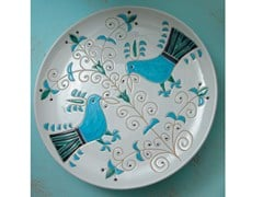 Vassoio rotondo in ceramicaLE PAVONCELLE | Vassoio rotondo - GRUPPO ROMANI