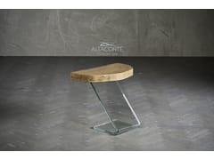 Tavolino alto in legno e vetroLEAF 4 - ALTA CORTE