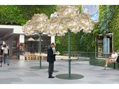 Lampada da terra / pannello acustico a parete LEAF LAMP METAL TREE - GREEN FURNITURE CONCEPT