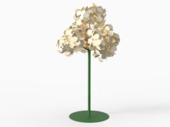 Green Furniture Concept, LEAF LAMP METAL TREE Lampada da terra / pannello acustico a parete
