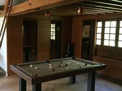 Tavolo da biliardo rettangolare in legno massello e pelleLEATHER - BILLARDS TOULET